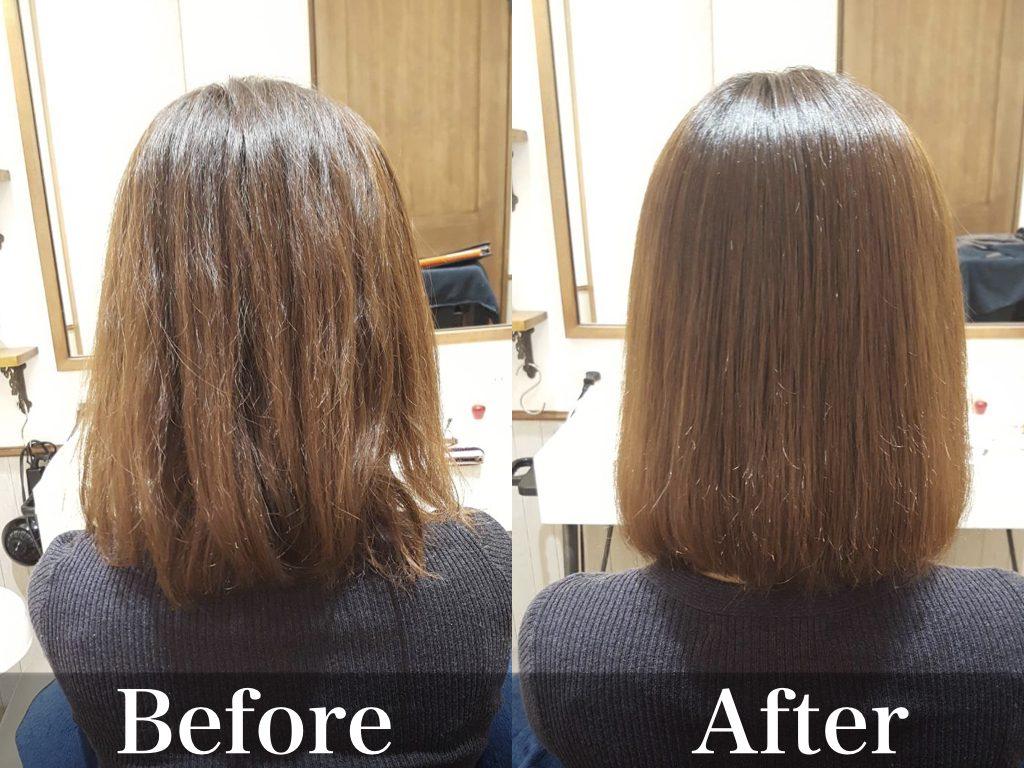 髪質改善の仕上がり